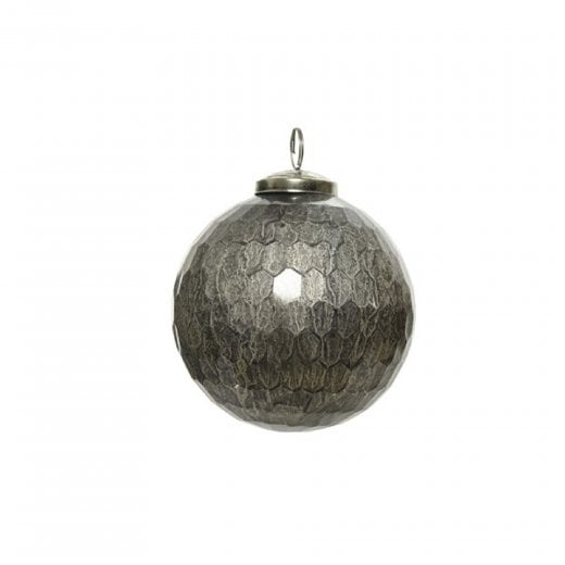 Danish Collection Bauble - Grey Diamond Effect H10cm