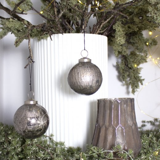Danish Collection Bauble - Grey H10cm
