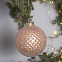 Danish Collection Bauble - Nude/Blush Pink H10cm