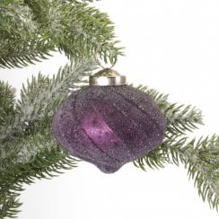 Danish Collection Bauble - Onion Shape Frosted H7cm