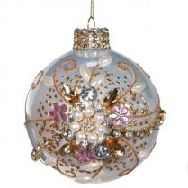 Danish Collection Bauble Pink Champagne - D10cm