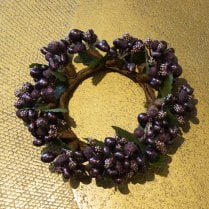 Danish Collection Berrybud Candle Ring - Purple