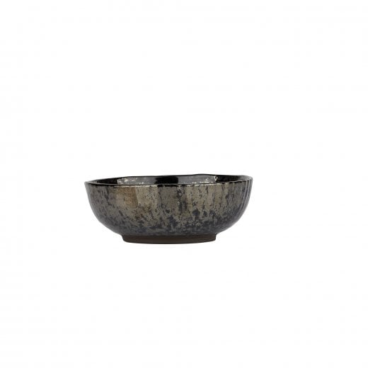 Danish Collection Birch Stoneware Bowl - Black Metallic