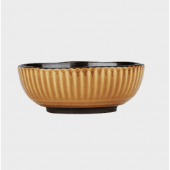 Danish Collection Birch Stoneware Breakfast Bowl - Mustard