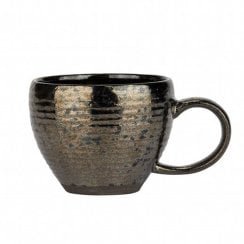 Danish Collection Birch Stoneware Cup - Black Metallic