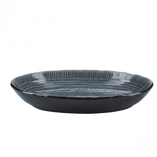 Danish Collection Birch Stoneware Deep Plate - Dark Grey