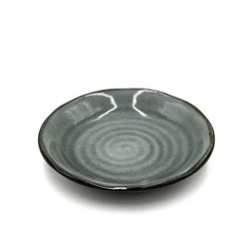 Danish Collection Birch Stoneware Dessert Plate - Dark Grey