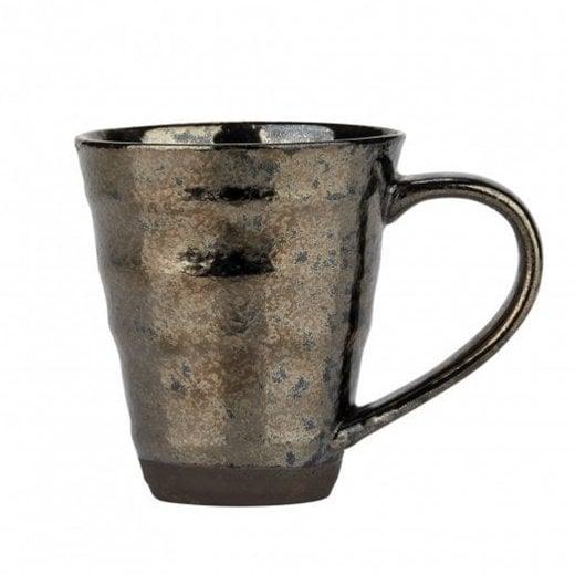 Danish Collection Birch Stoneware Mug - Black Metallic