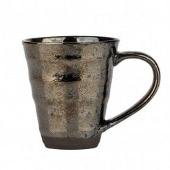 Danish Collection Birch Stoneware Mug - Black Metallic