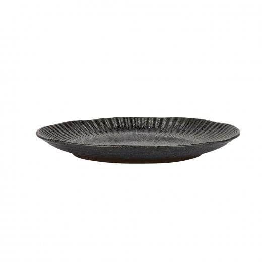 Danish Collection Birch Stoneware Plate - Black Metallic