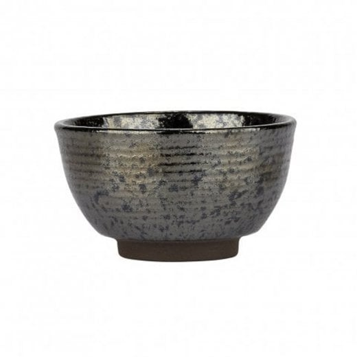 Danish Collection Birch Stoneware Small Bowl - Black Metallic