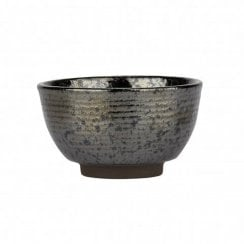Danish Collection Birch Stoneware Small Bowl - Black Metallic