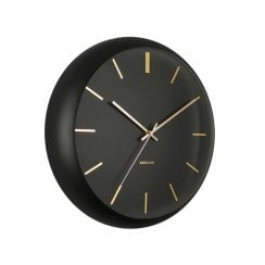 Danish Collection Black Globe Wall Clock