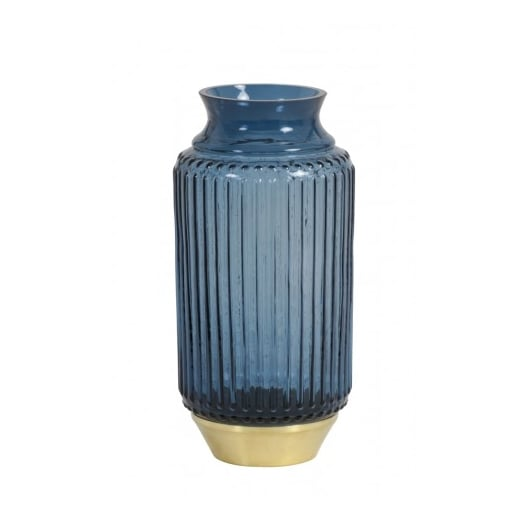 Danish Collection Blue and Copper Glass Vase