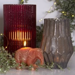 Danish Collection Candle Elephant - Peach H8cm