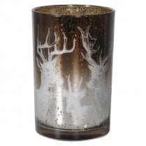 Danish Collection Candle Holder with reindeer H18cm