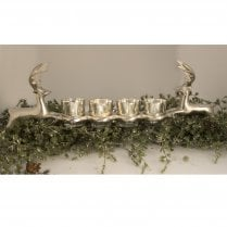 Danish Collection Candle Holders with Standing Reindeer Base