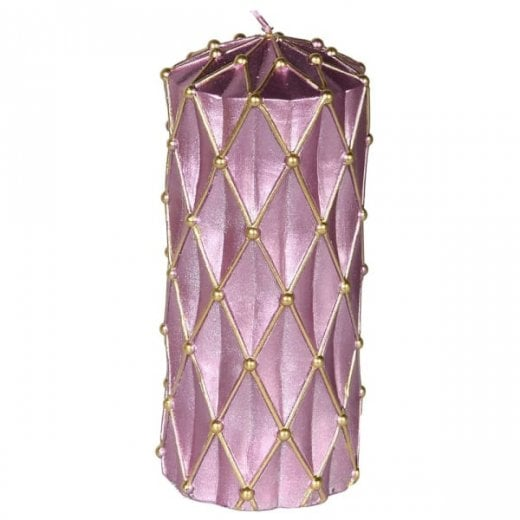 Danish Collection Candle With Gold Glitter - H16cm