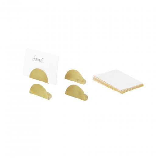 Danish Collection Card Holders - Brass
