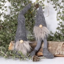Danish Collection Carl Felt Gnome with Beard - MINI Grey/Grey H26cm