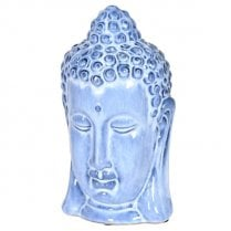 Danish Collection Ceramic Buddha Head - Pale Blue H28cm