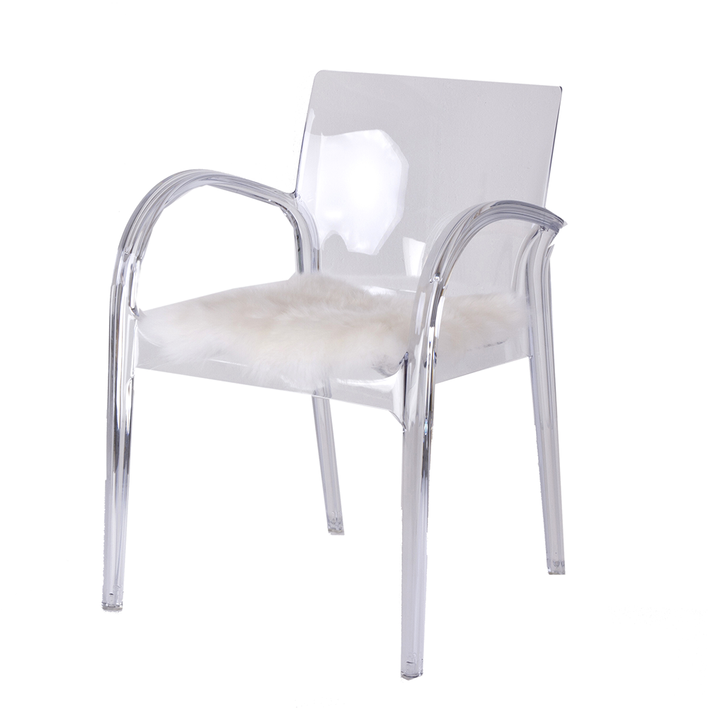 Danish Collection Chair Strong Acrylic Clear Danish