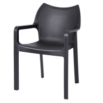 Danish Collection Chair Strong PVC Black