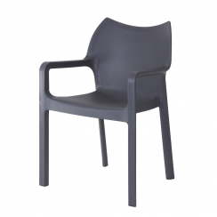 Danish Collection Chair Strong PVC Grey