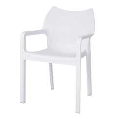 Danish Collection Chair Strong PVC White