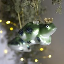 Danish Collection Christmas Frog - Green/Gold