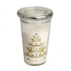 Danish Collection Christmas Tree Candle in Glass