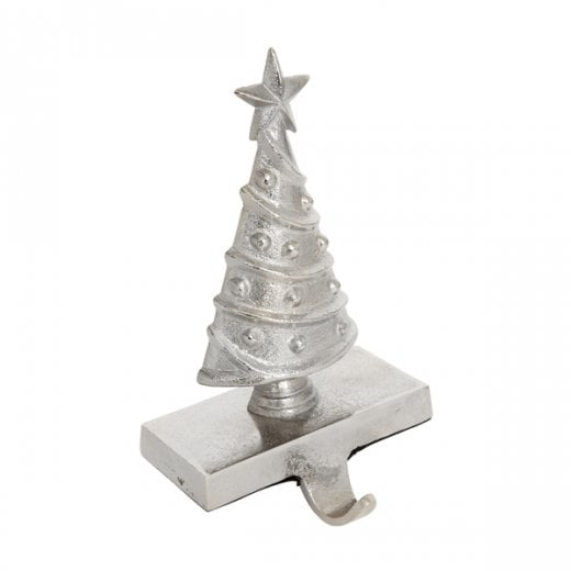 Danish Collection Christmas Tree Stocking Hook - Silver