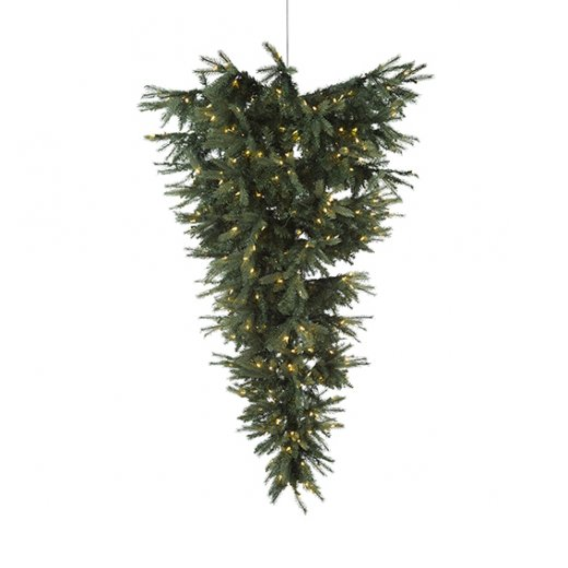 Danish Collection Christmas Tree Upside Down H180cm, Hang from ceiling