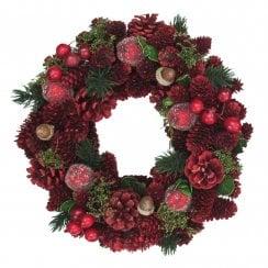 Danish Collection Christmas Wreath - 24 cm