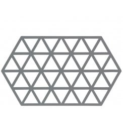 Danish Collection Cool Grey Triangles Trivet