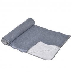 Danish Collection Cosy Christmas Throw - Grey Glitter