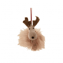 Danish Collection Crushed Velvet Hanging Moose Head