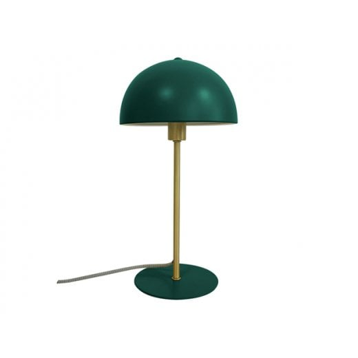 Danish Collection Dark Green Bonnet Table Lamp