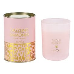 Danish Collection Dazzling Diamonds Candle - Rose