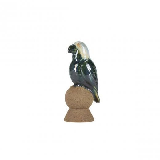 Danish Collection Decorative Ceramic Parrot - White