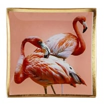 Danish Collection Decorative Glass Flamingo Plate