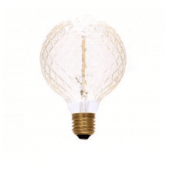 Danish Collection Decorative Light Bulb - Bevel Cut Amber D9.5cm E27/40W