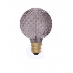 Danish Collection Decorative Light Bulb - Bevel Cut Smoke Grey D9.5cm E27/40W