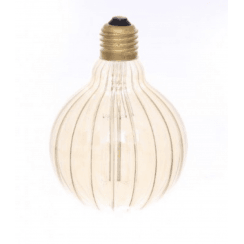 Danish Collection Decorative Light Bulb - Groove Cut Amber D9.5cm E27/40W