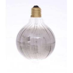 Danish Collection Decorative Light Bulb - Groove Cut Smoke Grey D9.5cm E27/40W