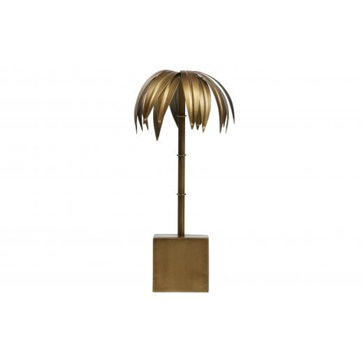 Danish Collection Decorative Palm Tree - Antique Brass