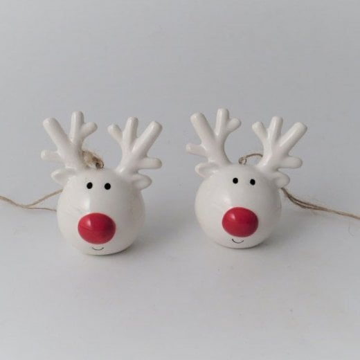 Danish Collection Decorative Reindeer Head - White