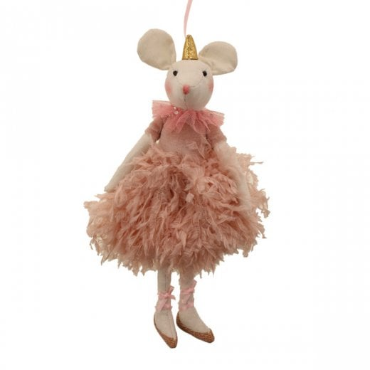 Danish Collection Detailed Ballerina Mouse - Pink