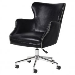 Danish Collection Directors Office Chair -Black Leather - PREORDER WITH 20% DISCOUNT