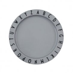 Danish Collection Eat and Learn Plate Grey